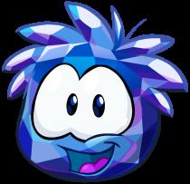Modrý krystalický pufflík